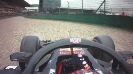 FP1: Verstappen slides into the Shanghai gravel