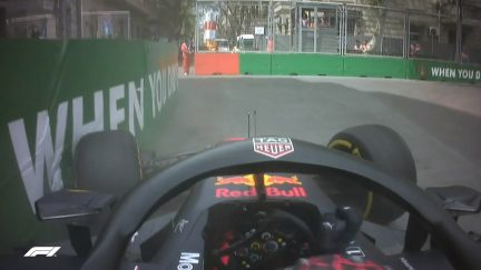 FP1: Verstappen out after becoming first to hit Baku walls