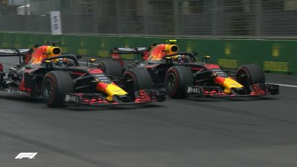 RACE: Ricciardo loses two places on the restart