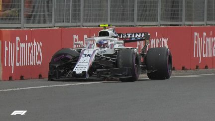 FP3: Sirotkin crash brings out the red flags