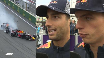 RED BULL CRASH: Ricciardo and Verstappen explain what happened