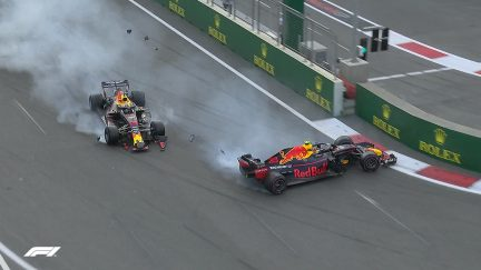 RACE: Double DNF as the two Red Bulls collide