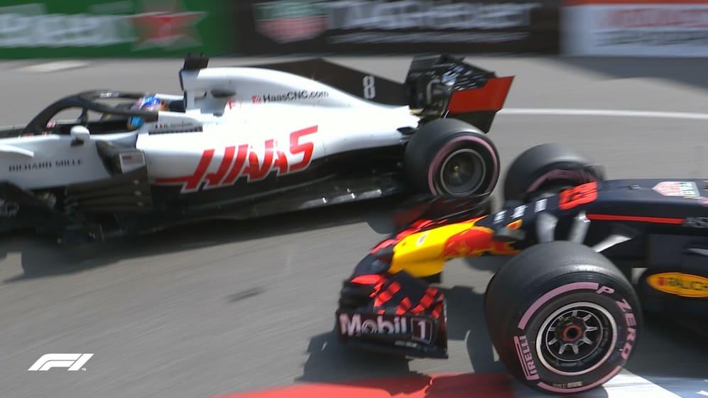 FP2: Traffic squeezes past a slow Verstappen 