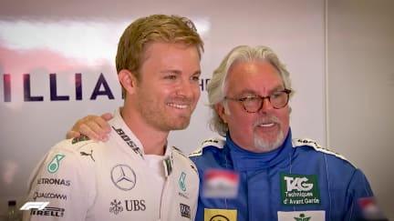 ROSBERGS REUNITED: Nico and Keke drive title-winning cars in Monaco