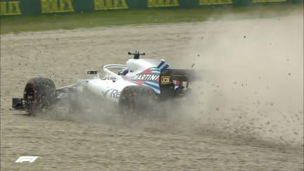 FP3: Stroll bounces through the Barcelona gravel