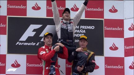 F1 VAULT: Maldonado holds off Alonso in shock Williams win