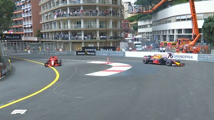 FP1: Verstappen rejoins in reverse after escape road off