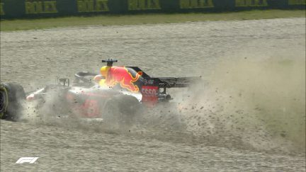 FP1: Ricciardo out early after hitting barriers at Turn 4