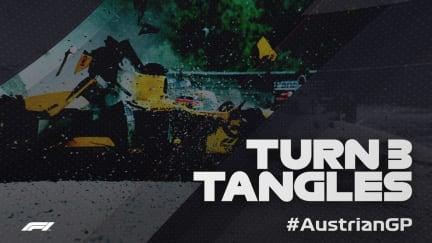 AUSTRIAN GP: Turn 3 tangles