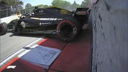 FP2: Half spin sends Sainz into the wall