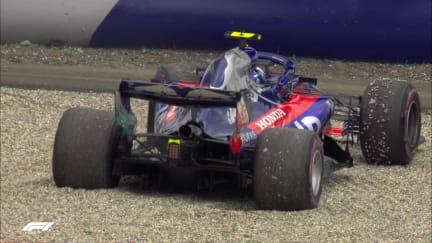FP2: Suspension damage ends Gasly's session
