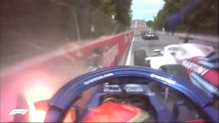 ALL THE ANGLES: Hartley's lap 1 crash with Stroll in Canada