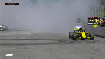 RACE: A fiery end to Hulkenberg's race