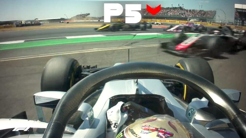 LEWIS ON THE MOVE: All Hamilton's British GP overtakes