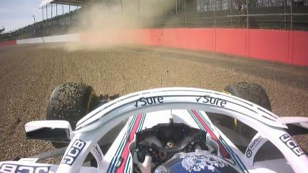 FP1: Sirotkin spins Williams into gravel