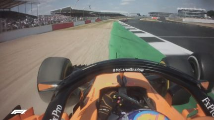RACE: Alonso fumes at Magnussen over team radio