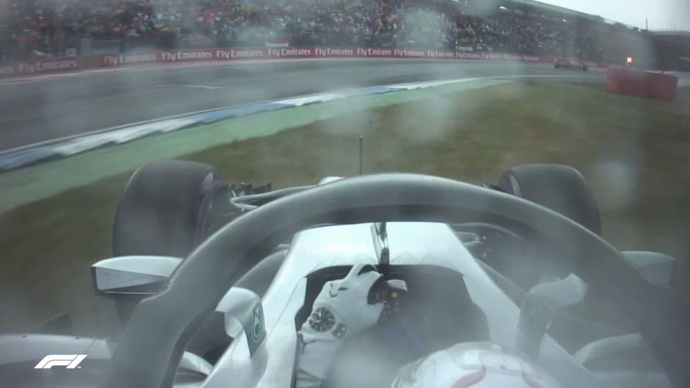 RADIO DRAMA: Hamilton abandons plan to pit