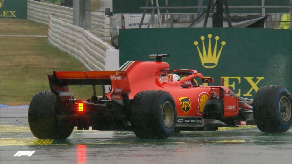FP3: Vettel off backwards at Hockenheim hairpin
