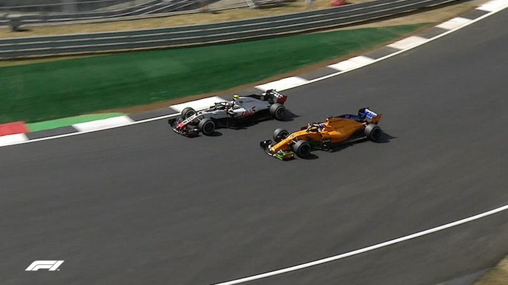 FP1: Magnussen and Alonso dispute same piece of track