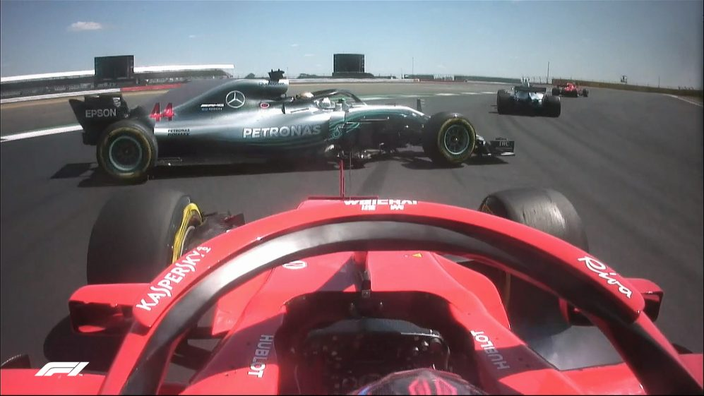 RACE: Hamilton spins after contact with Raikkonen on lap 1
