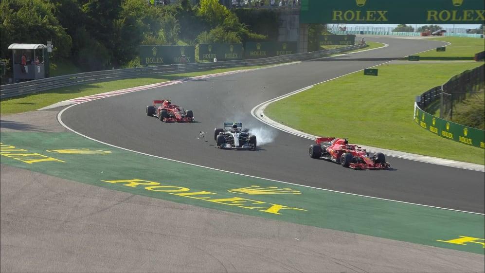 RACE: Vettel survives late-race clash with Bottas