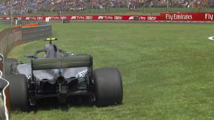 FP3: Bottas goes side on into Budapest barriers
