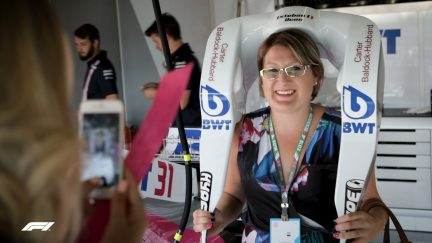 Force India's touching tribute to breast cancer sufferers