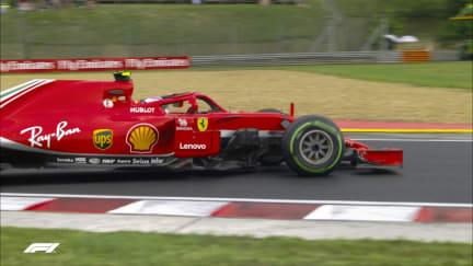 QUALIFYING: Raikkonen spins at Turn 6 chicane