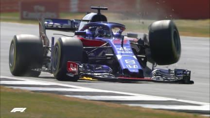 FP3: Hartley suffers big crash after suspension failure