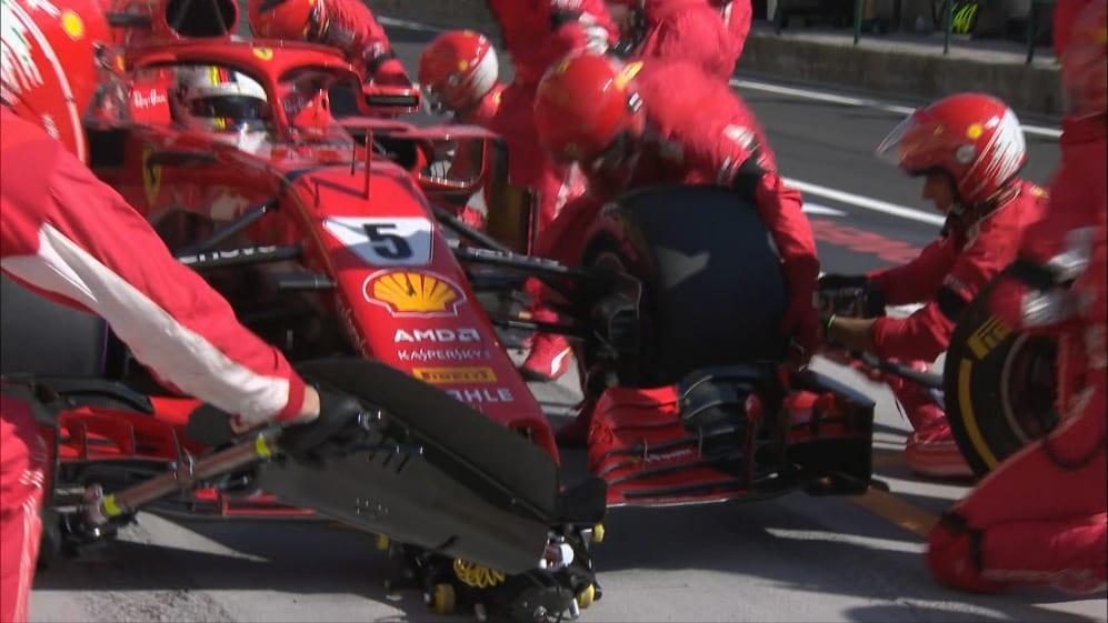 RACE: Vettel delayed by slow pit stop
