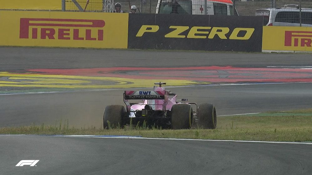 Perez spins in Germany