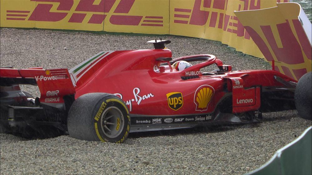 RACE: Vettel crashes out while leading at home