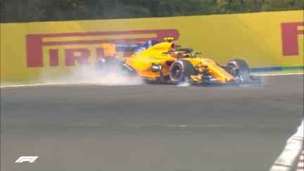 FP2: Vandoorne survives high speed spin