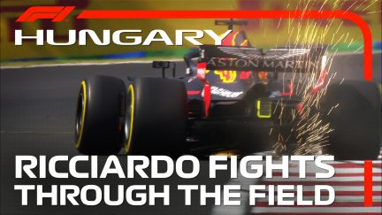 Ricciardo fights through the field in Hungary