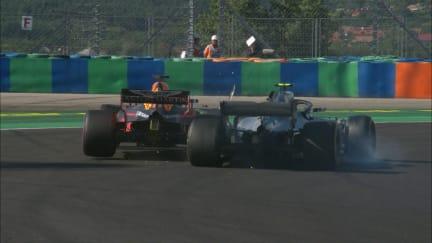 RACE: Damaged Bottas runs into Ricciardo
