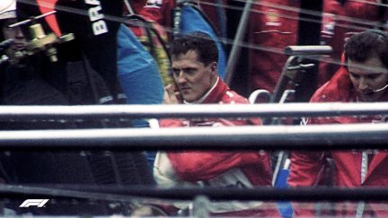 F1 VAULT: Schumacher and Coulthard's Belgian bust up