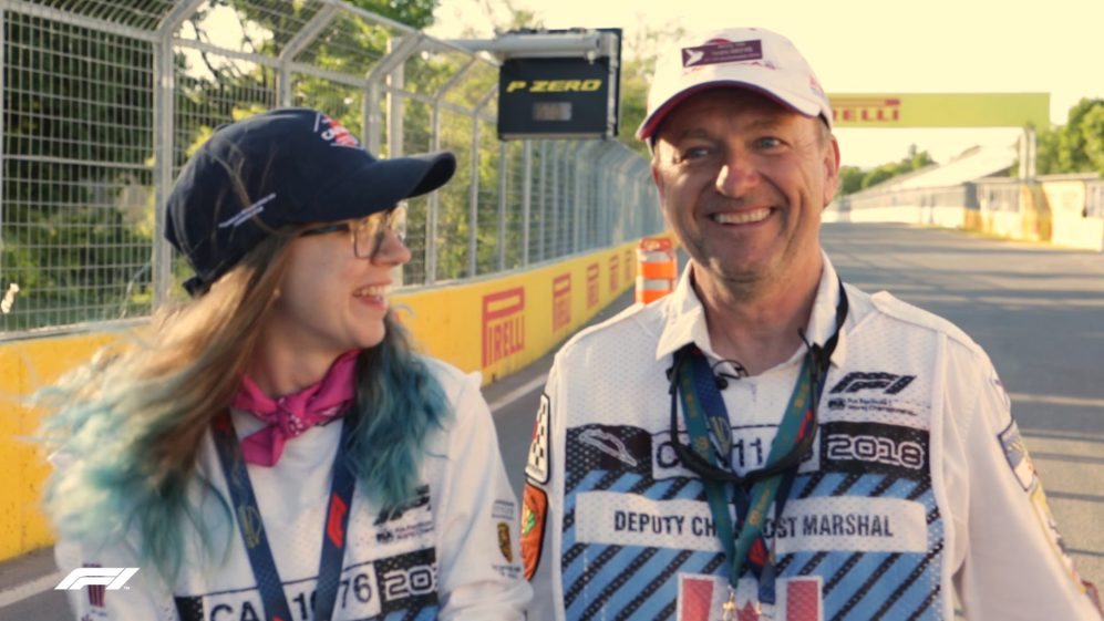 #WeAreF1 - Father-daughter marshals, Kelsey and Andy Hill