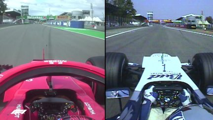 ONBOARD COMPARISON: How Raikkonen took Montoya's fastest ever F1 lap record