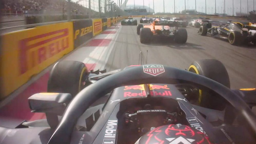 MAXIMUM ATTACK: Verstappen goes from P19 to P9 after stunning Sochi start