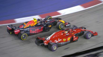 RACE: Verstappen jumps Vettel in first round of stops