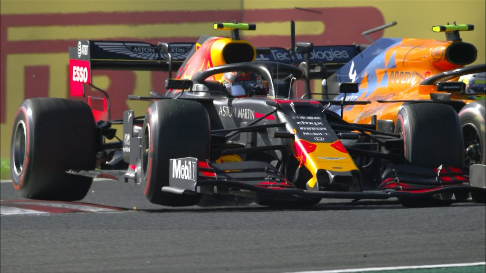 Japanese GP: Albon and Norris come together at the chicane