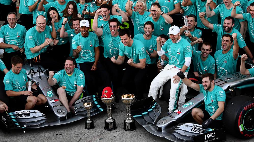 Constructors' champion: Mercedes' winning streak