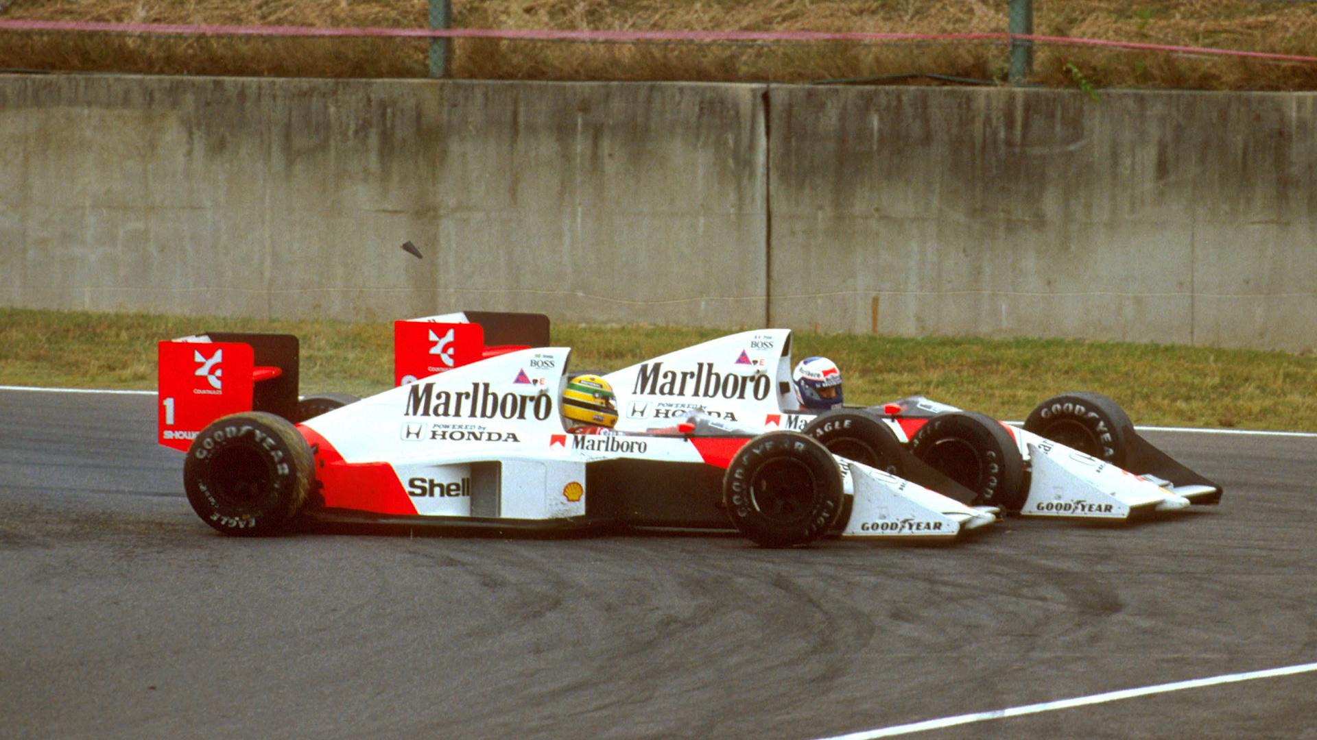 Prost vs Senna: How the infamous Suzuka '89 clash unfolded ...
