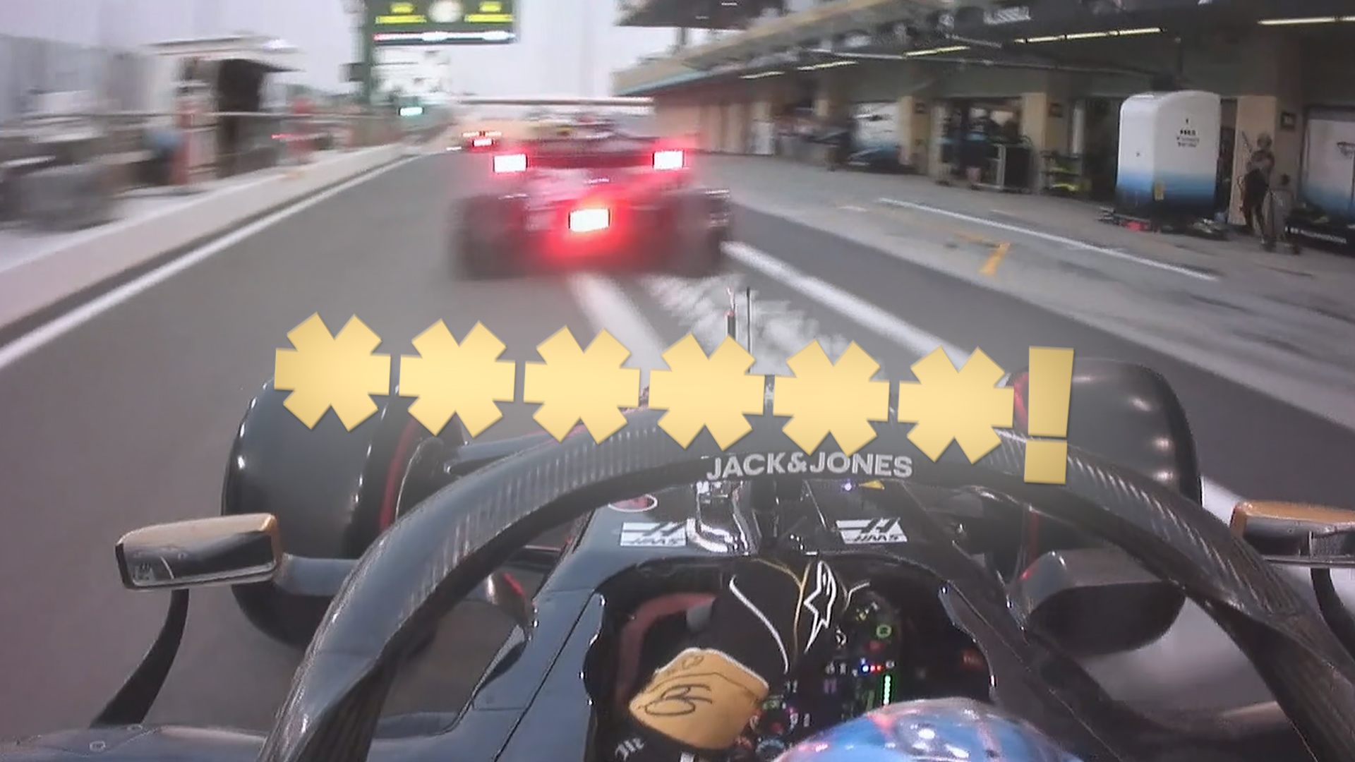 Qualifying: Close call for Grosjean and Kvyat in the pit lane