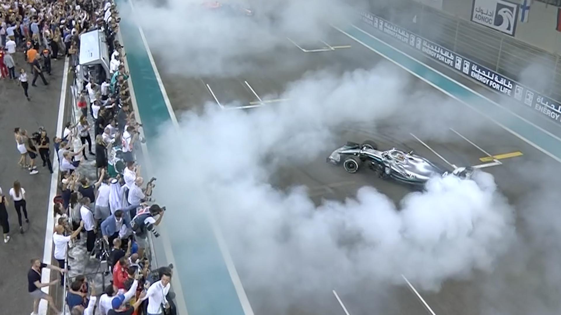 Abu Dhabi GP: Hamilton and Verstappen's donut celebrations