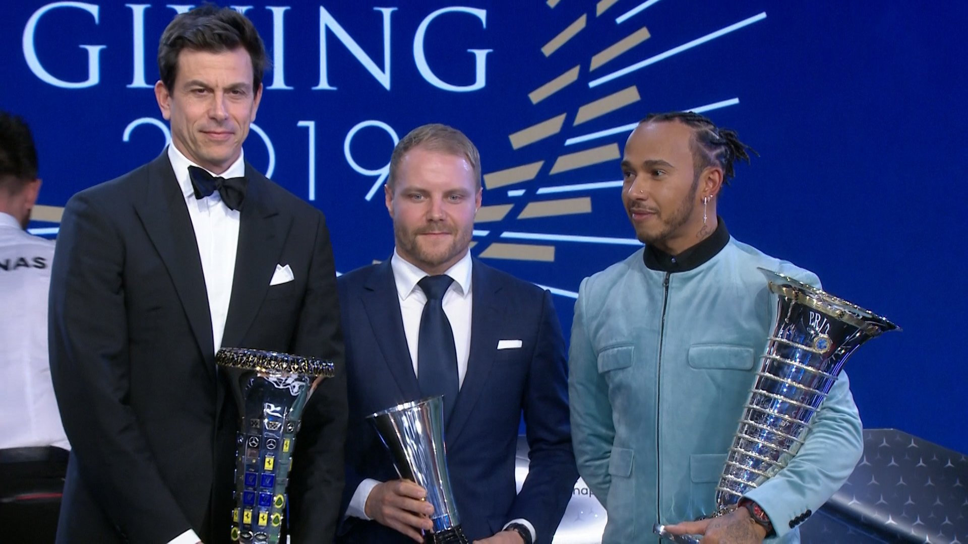 FIA Prize Giving: Lewis Hamilton awarded 2019 World Championship trophy