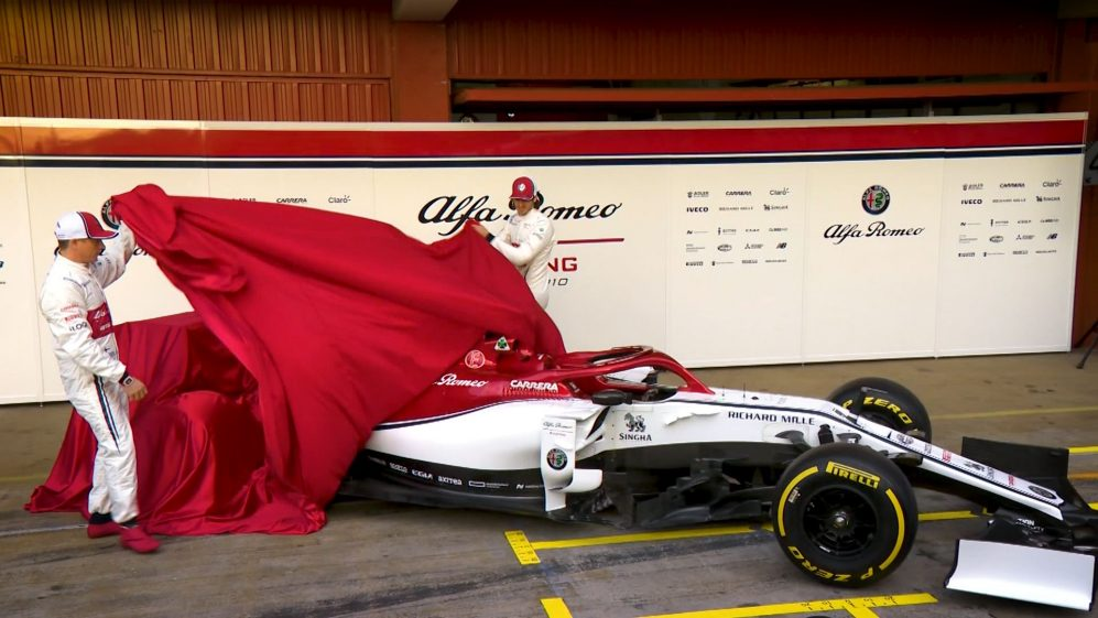 Alfa Romeo unveil 2019 livery before hitting the track