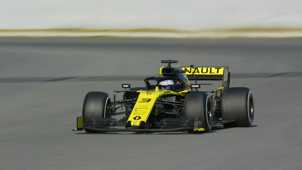 Ricciardo hits the track for Renault in 2019 testing