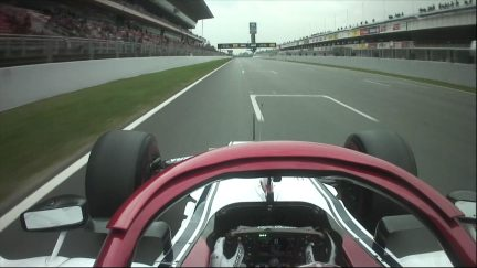ONBOARD: Take a ride around the Circuit de Barcelona-Catalunya with Kimi Raikkonen