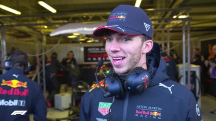 Pierre Gasly - 'For the shakedown Red Bull usually come with some crazy liveries but this is probably one of the best'